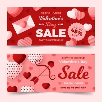 Packung valentinstag banner