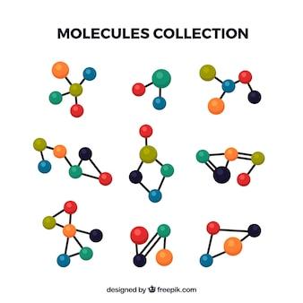 Packung verschiedener molekularer strukturen