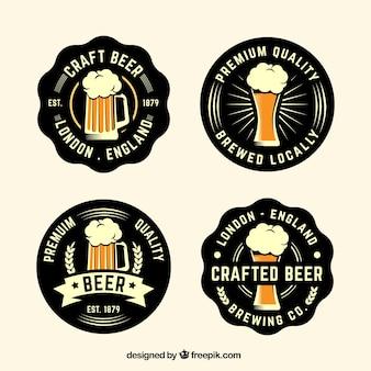 Packung vintage bieraufkleber
