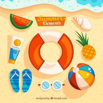 Packung von fantastischen sommerartikeln