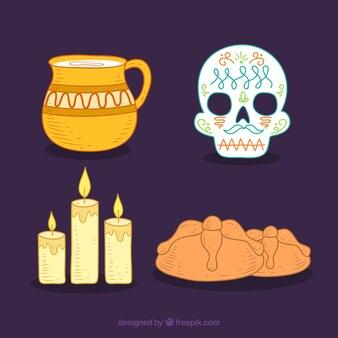 Packung von feierlichkeiten des tages der toten