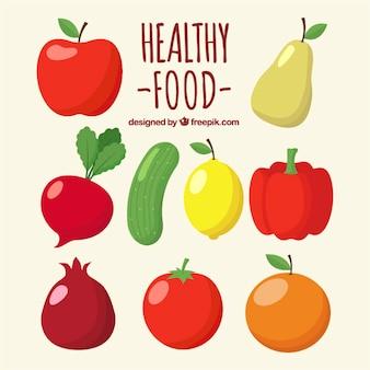 Packung von Obst und Gemüse