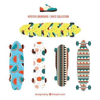 Packung von skateboards mit enjoyables designs