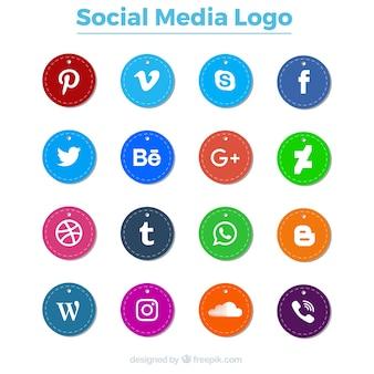 Packung von sozialen logos