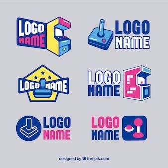 Packung von videospiel-logos