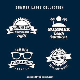 Packung von vintage sommer aufkleber