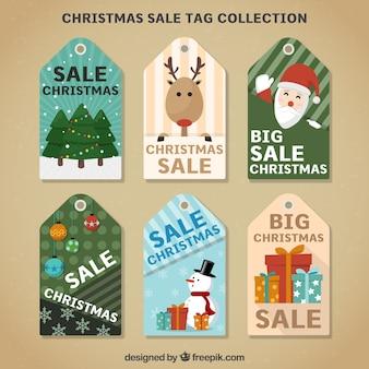 Packung weihnachtsverkauf aufkleber