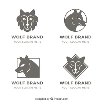 Packvorlagen wolfslogos