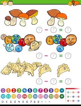 Pädagogische mathe spiel cartoon