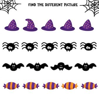 Pädagogisches halloween-spiel für kinder