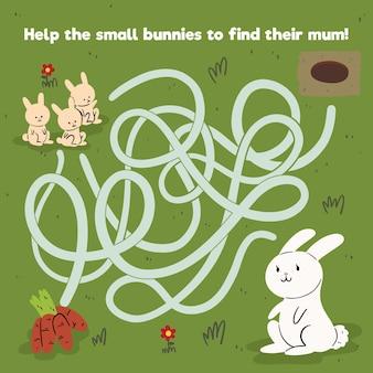 Pädagogisches labyrinthspiel für kinder
