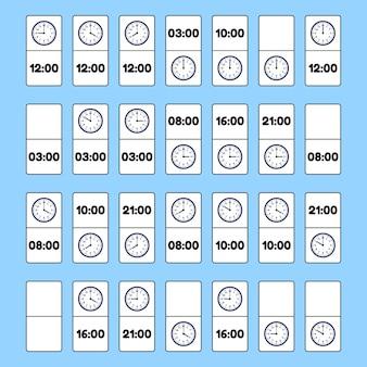 Pädagogisches logikspiel für kinder. brettspiel domino.