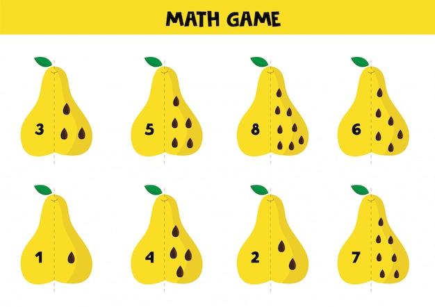 Pädagogisches mathe-spiel für kinder