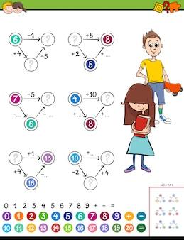Pädagogisches mathematisches berechnungsspiel