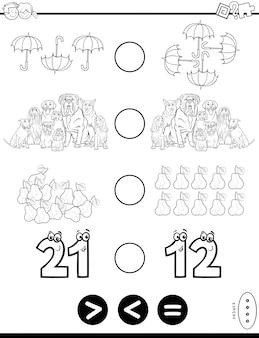 Pädagogisches mathematisches puzzlespiel für kinder