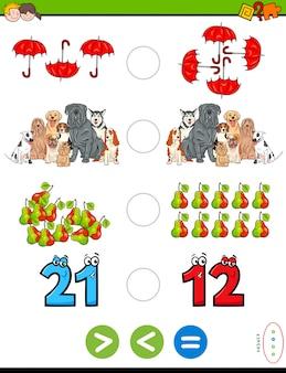 Pädagogisches mathematisches puzzlespiel