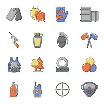 Paintball-ikonen eingestellt