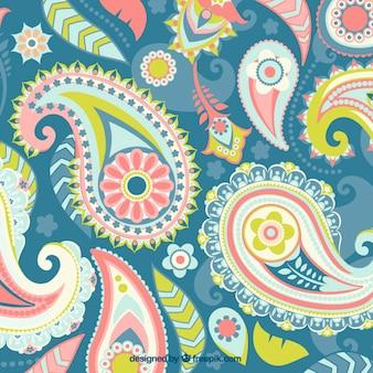 Paisley, farben hintergrund