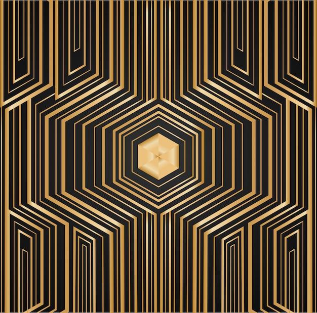 Paket gemacht mit goldener folie auf schwarzem hintergrund