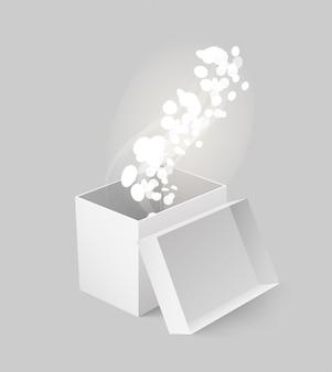 Paket-kasten hergestellt vom karton mit dem glühen