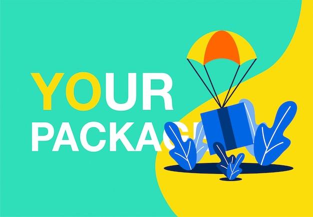 Paket lieferung vektor illustration konzept