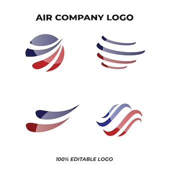 Paket mit dem logo der fluggesellschaft