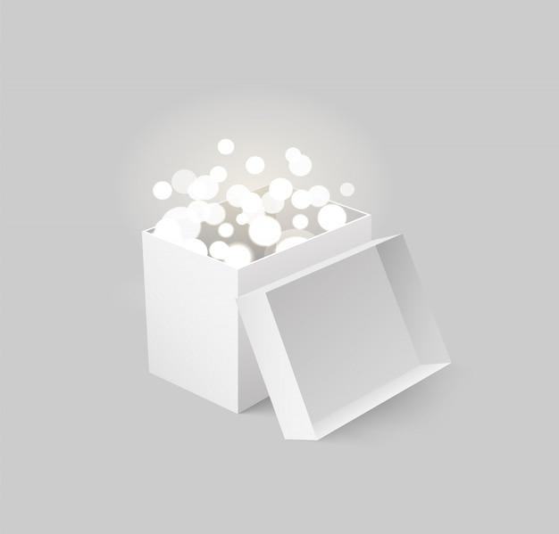 Paket mit licht und strahlen karton