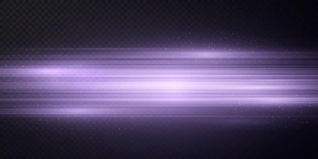 Paket mit pinkfarbenen horizontalen highlights laser-neonstrahlen horizontale hellrosa strahlen