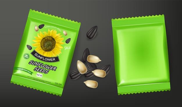 Paket mit sonnenblumenkernen