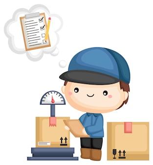 Paket und checkliste