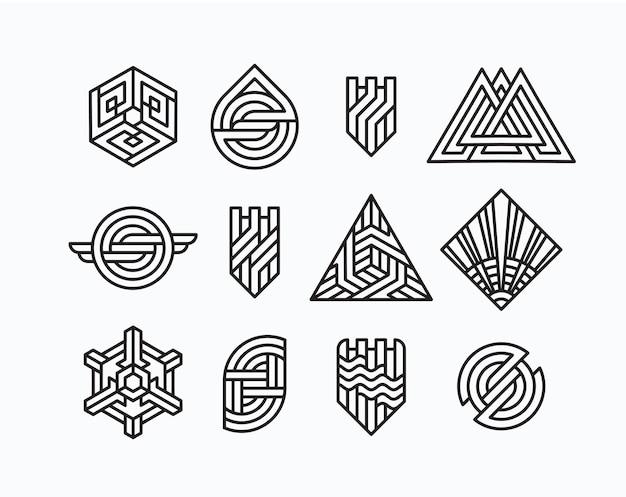 Paket von abstrakten geometrischen symbolen