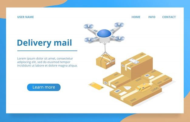 Paketlieferung mit drohnen-technologie