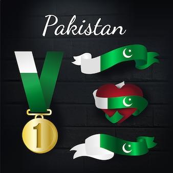 Pakistan goldmedaille und bänder sammlung