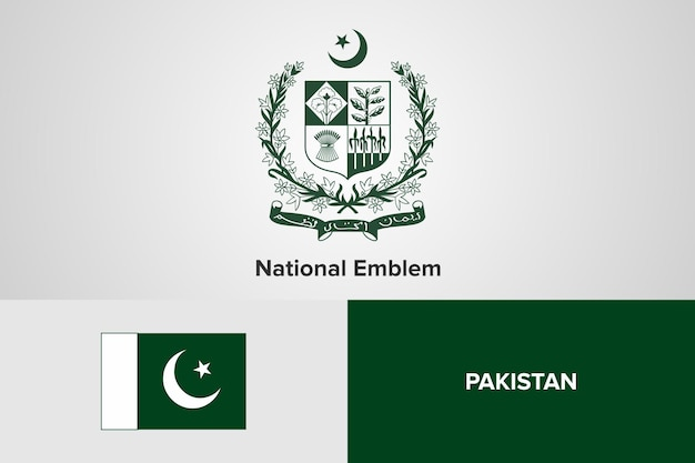 Pakistan national emblem flag vorlage