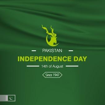 Pakistan unabhängigkeit tag hintergrund-design