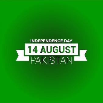 Pakistan-unabhängigkeitstagtypographie