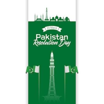 Pakistanischer auflösungstag