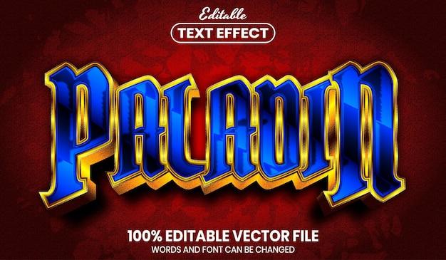 Paladin-text, bearbeitbarer texteffekt im schriftstil