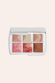 Palette von kosmetischen schatten. vektor-illustration