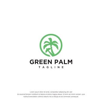 Palm logo design tempel