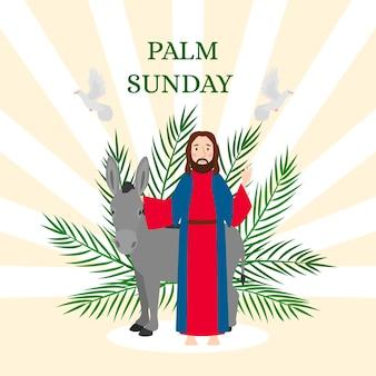 Palm sonntag illustration