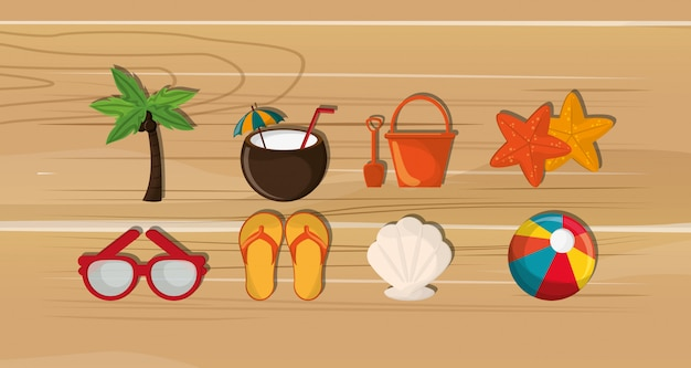 Palme mit urlaubsreise-ikonenbild