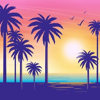 Palmen silhouetten hintergrund