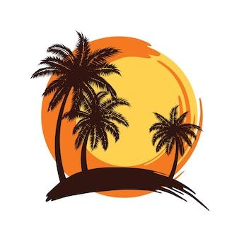 Palmen sonnenuntergang