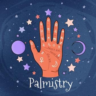 Palmistry-lesekonzept