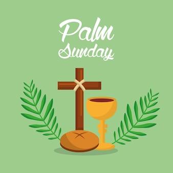 Palmsonntag holi woche kreuz brot