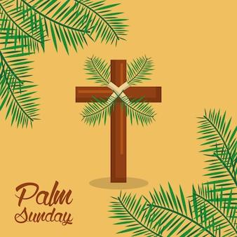 Palmsonntag-karwoche feier heilig