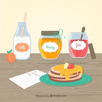 Pancakes frühstück