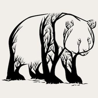 Panda-bäume
