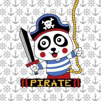 Panda der pirat